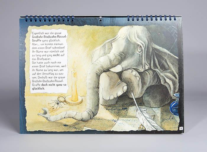 Elefant am Schreibtisch