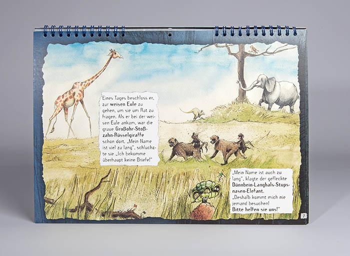 Giraffe geht