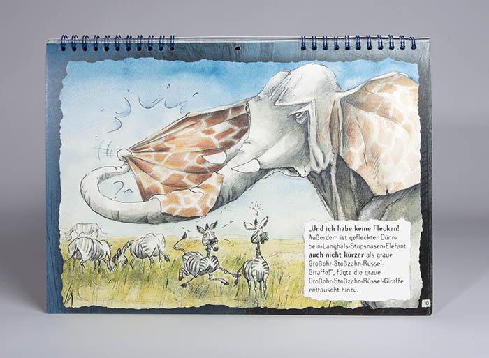 Elefant Giraffenmuster