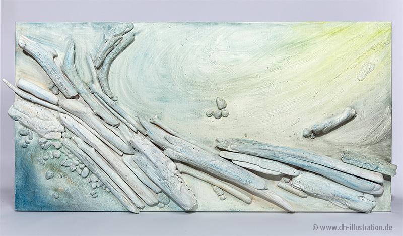 Holz und Farbe Bild
