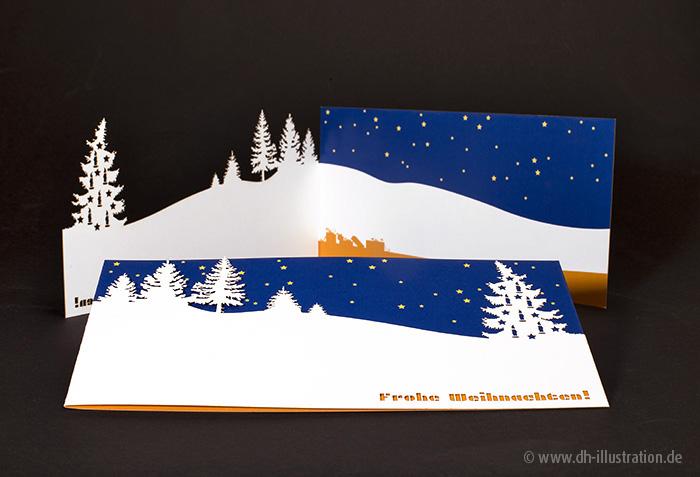 Cutout Weihnachtskarte