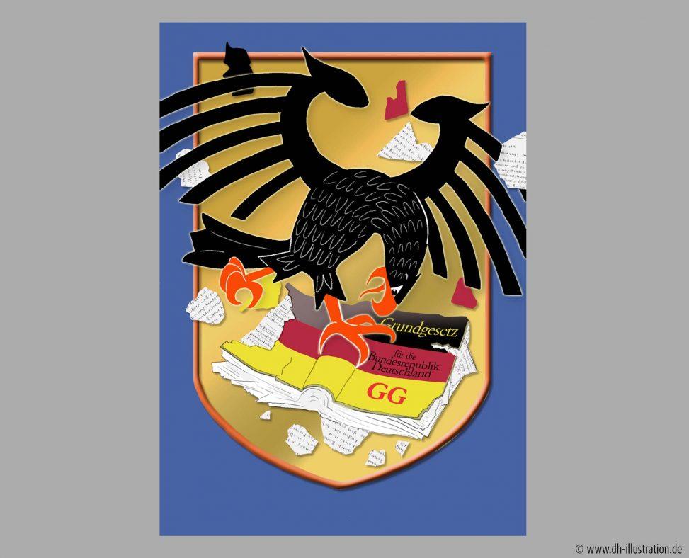 Adler zerreisst GG