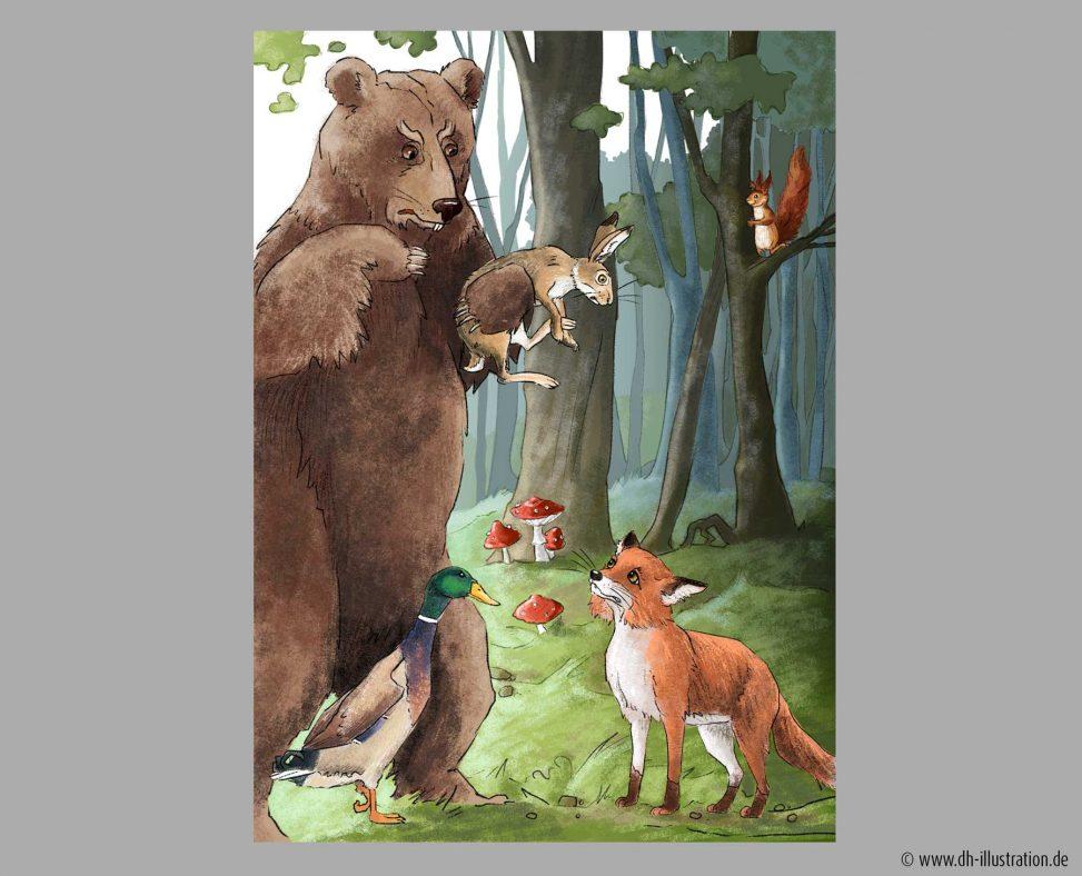 Baer, Hse Fuchs im Wald