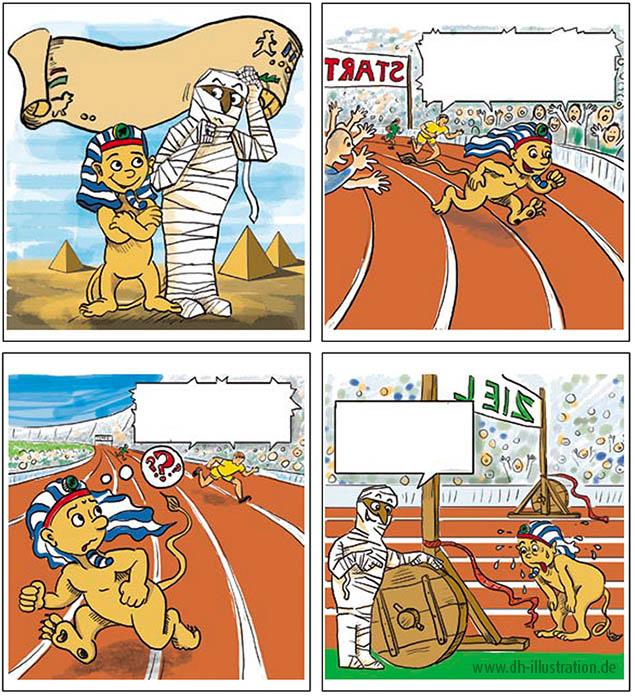 Comic Sphinx Rennen