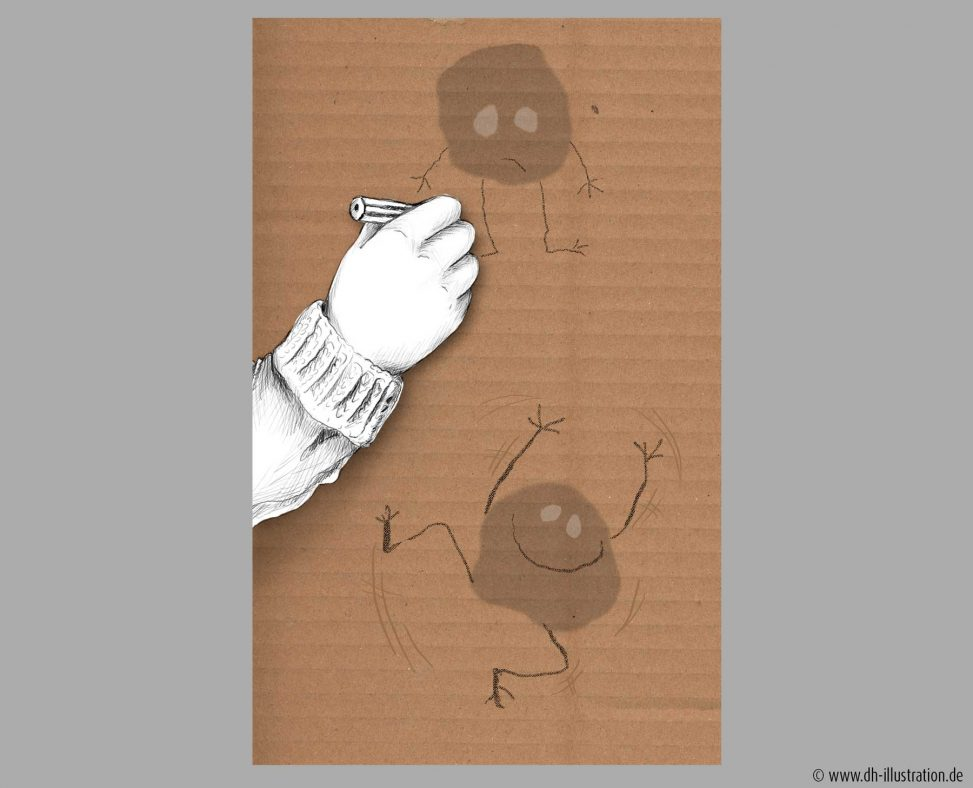 Kinderhand zeichnet