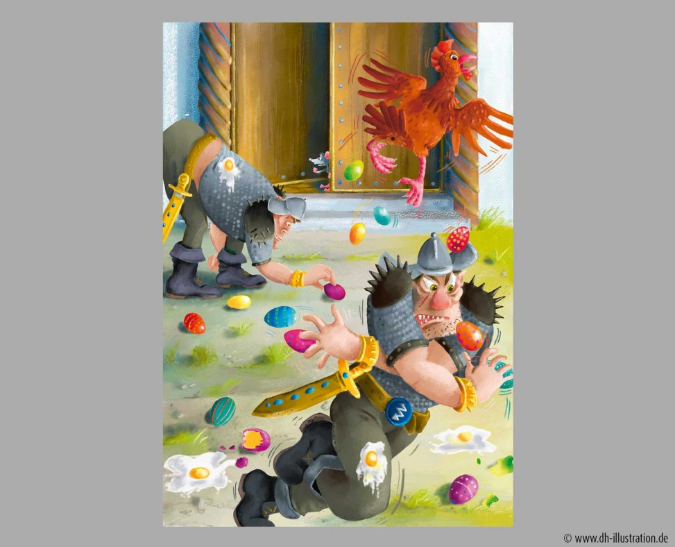 Huhn legt Ostereier