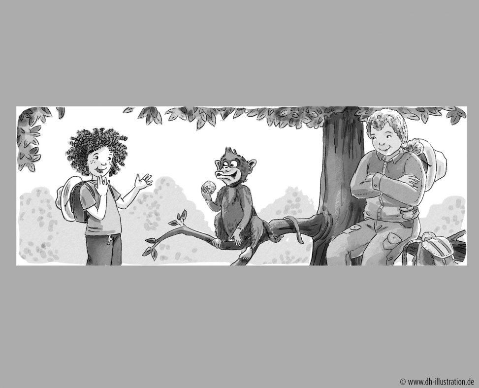 Kind und Affe