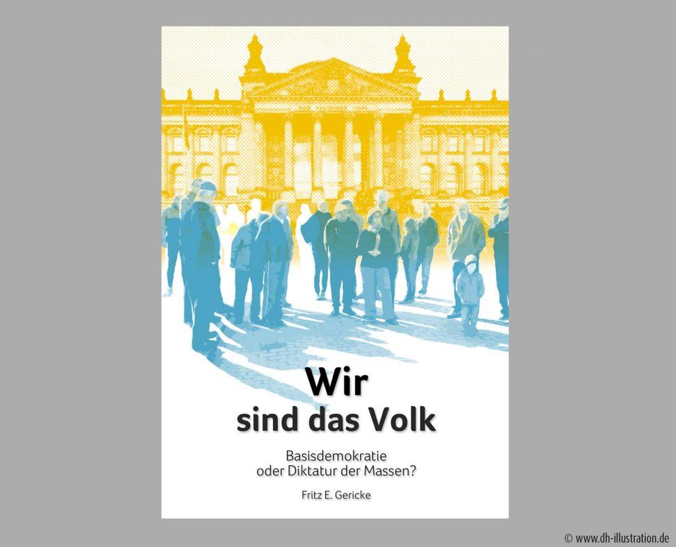 Demokratie Leute vor Reichstag