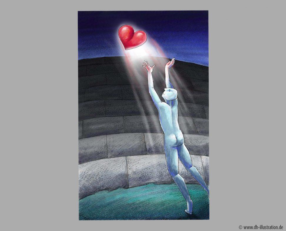 Herz über die Mauer werfen