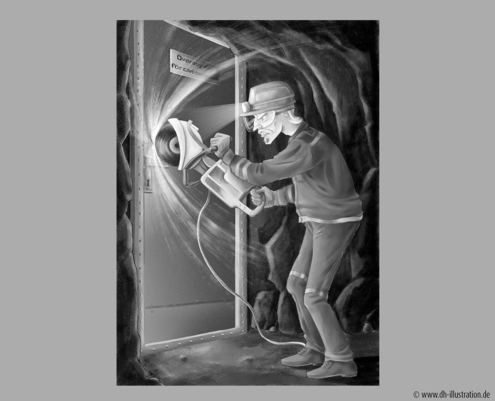 Tür mit Flex aufsägen