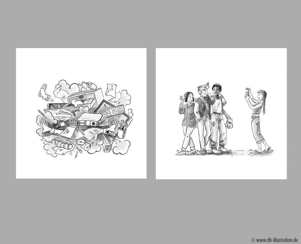Comic Aufräumen, Freundesgruppe